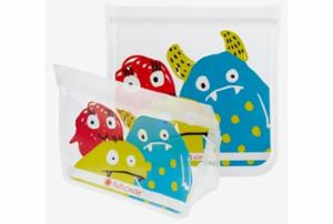 Ziptuck Reusable Lunch Bags - Monster Set/2